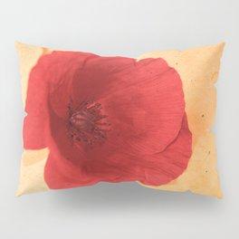 Lonesome Poppy Flower (Orange version) Pillow Sham
