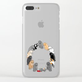 A Cat's Patience Clear iPhone Case
