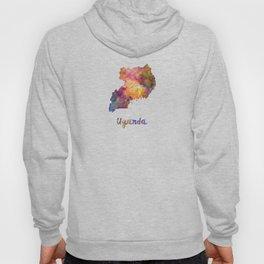 Uganda in watercolor Hoody