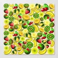 Summer Fruits Juicy Pattern  Canvas Print