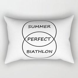 Summer Biathlon Rectangular Pillow