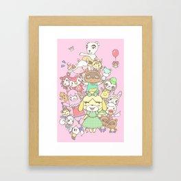 Animal Crossing (pink) Framed Art Print