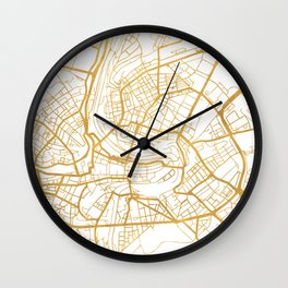 BERN SWITZERLAND CITY STREET MAP ART Wall Clock