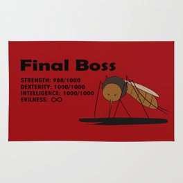 Final Boss - Red background Rug