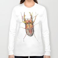 beetle Long Sleeve T-shirts featuring Beetle by Cherry Virginia
