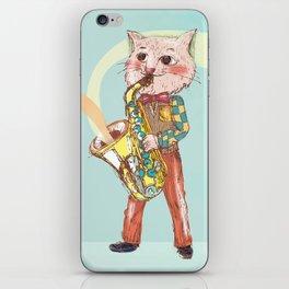 Jazz Cat iPhone Skin