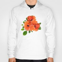poppies Hoodies featuring Poppies by Heaven7