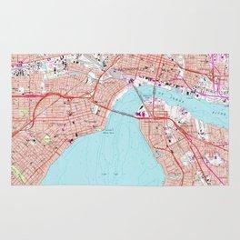Vintage Map of Jacksonville Florida (1964) Rug