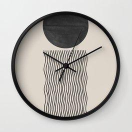 Minimal Woodblock  Wall Clock