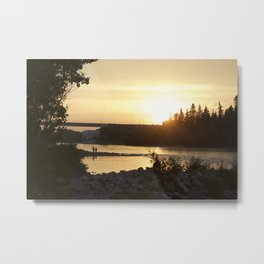 Sunset over Bowness Calgary Metal Print