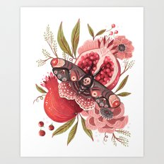 Moth Wings II Art Print
