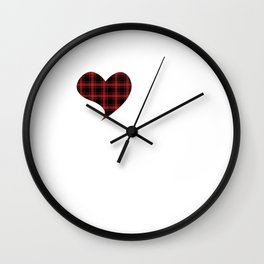 I Love Men In Kilt Scottland Tartan Skirt Clan Wall Clock