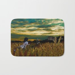 Wheat field Sundown Bath Mat