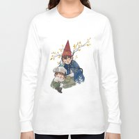 over the garden wall Long Sleeve T-shirts featuring Over the garden wall by Rozenn