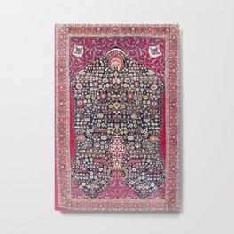 Kerman Millefleurs Persian Rug Print Metal Print