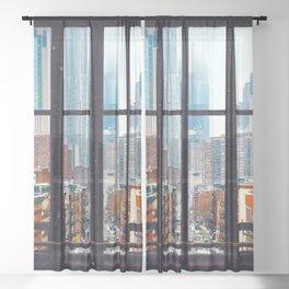 New York City Window Sheer Curtain