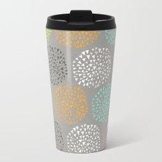 Flowers-triangles Travel Mug