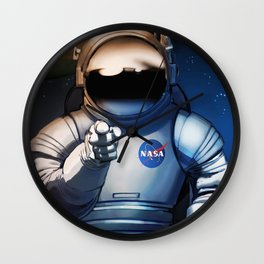 NASA Wants You Vintage Poster from 70s Moon Astronaut Artwork For Prints Posters Tshirts Bags Men Wo Wall Clock