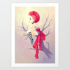 Punk Girl Art Print