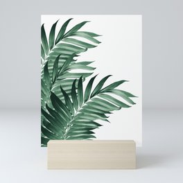 Palm Leaves Tropical Green Vibes #3 #tropical #decor #art #society6 Mini Art Print