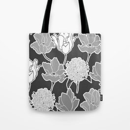 gray mekko floral Tote Bag