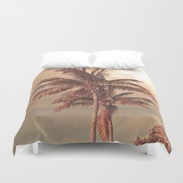 Retro Palm Tree Duvet Cover