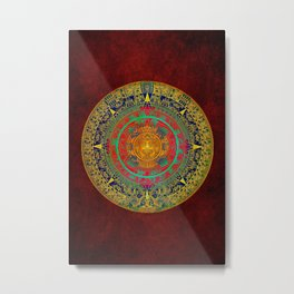 Aztec Sun God Metal Print