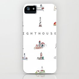 Collection of Lighthouses around the World iPhone Case