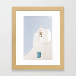 Greek Island Church Framed Art Print