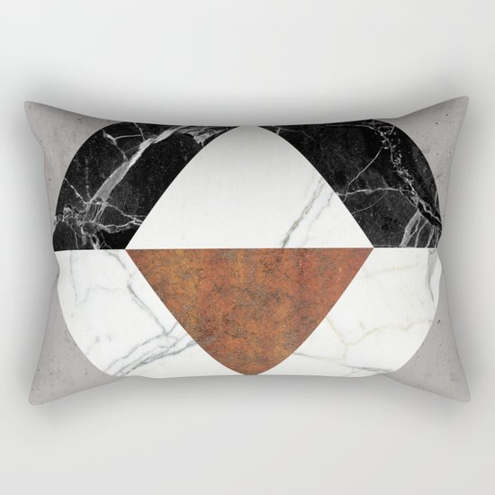 Marble Abstract Rectangular Pillow