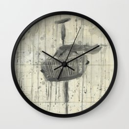 """ACCORDION. A SERIES OF WORKS """"MUSIC OF THE RAIN"""" Wall Clock"""