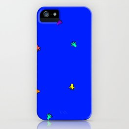 Little Colourful Hands in Blue iPhone Case