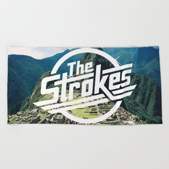 The Strokes Logo Machu Picchu Beach Towel