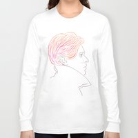 bowie Long Sleeve T-shirts featuring Bowie by Bruno Gabrielli