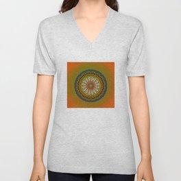Round Colorful Design Unisex V-Neck