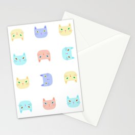 Pastel Cats Stationery Cards