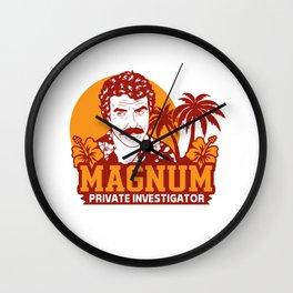 Magnum Private Investigator Wall Clock