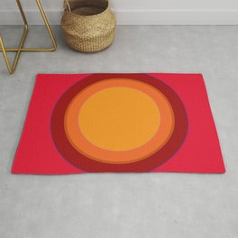 70s Retro Chic sunspot in Kapow Red! Rug
