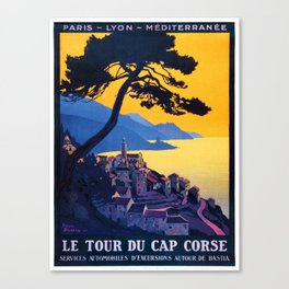 Le Tour Du Cap Corse, French Travel Poster Canvas Print