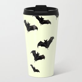 MYRIAD BLACK FLYING BATS DESIGN Travel Mug