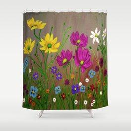 Spring Wild flowers  Shower Curtain