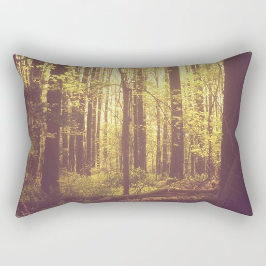She Experienced Heaven on Earth Among the Trees Rectangular Pillow