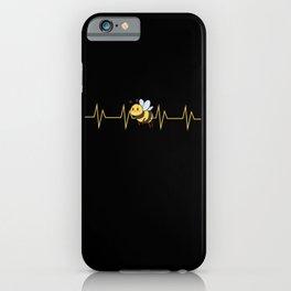 Bee Bumblebee Heart Rate Kids Design iPhone Case