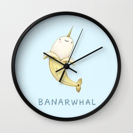 Banarwhal Wall Clock