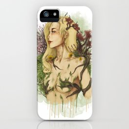 """Watercolor Painting of Picture """"Profile Woman"""" iPhone Case"""