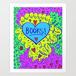 Books! Art Print
