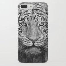 Tiger Black & White iPhone 7 Plus Slim Case