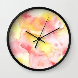 Warm Watercolor Tie-dye Wall Clock