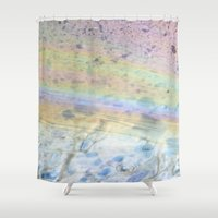 oil Shower Curtains featuring Oil by Miss Meow