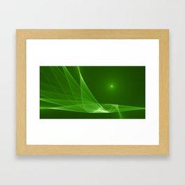 Fractal Green Lightness Framed Art Print